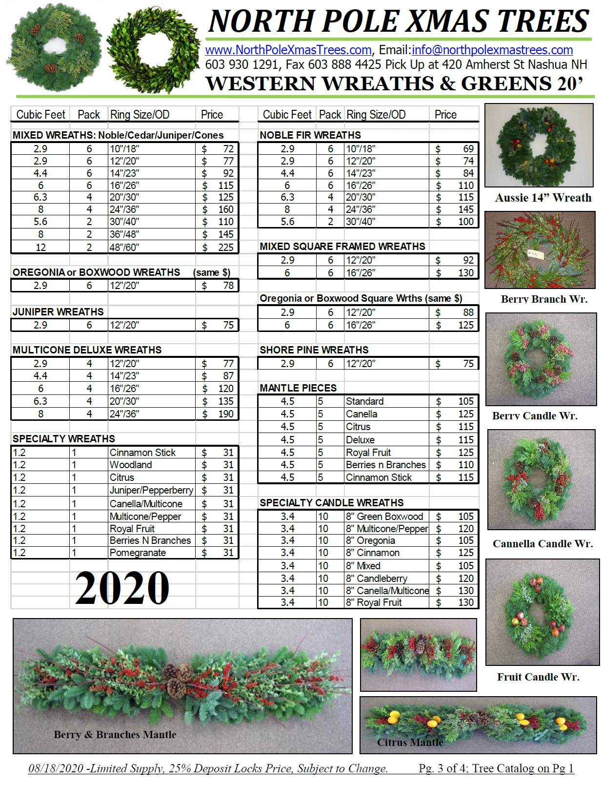 wholesale noble wreath pricelist