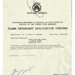 Fire Retardant Applicators License