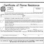 fireproof certificate